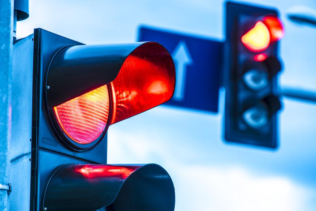 Rood licht stoplicht