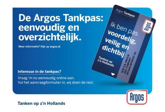 Argos lanceert nieuwe look & feel tankpassen